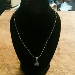 925 silver rope chain with charm 20 inch